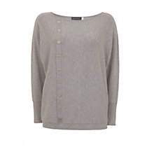 Buy Mint Velvet Asymmetric Button Knit Cardigan, Light Grey Online at johnlewis.com