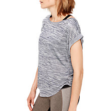Buy Lolë Alanah Short Sleeve Relaxed Yoga T-Shirt, Blue/White Online at johnlewis.com