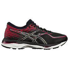 Buy Asics GEL-CUMULUS 19 Women's Running Shoes, Black/Pink Online at johnlewis.com