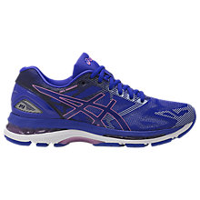 Buy Asics GEL-NIMBUS 19 Women's Running Shoes, Blue/Purple Online at johnlewis.com