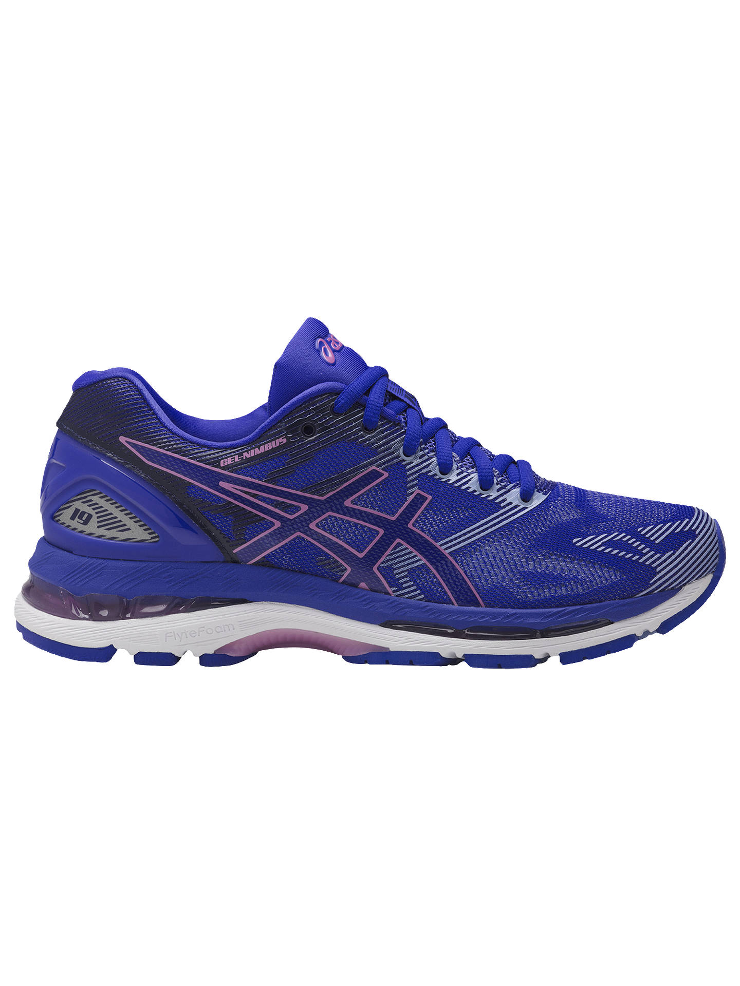 172e662630007 Buy Asics GEL-NIMBUS 19 Women's Running Shoes, Blue/Purple, 4 Online ...