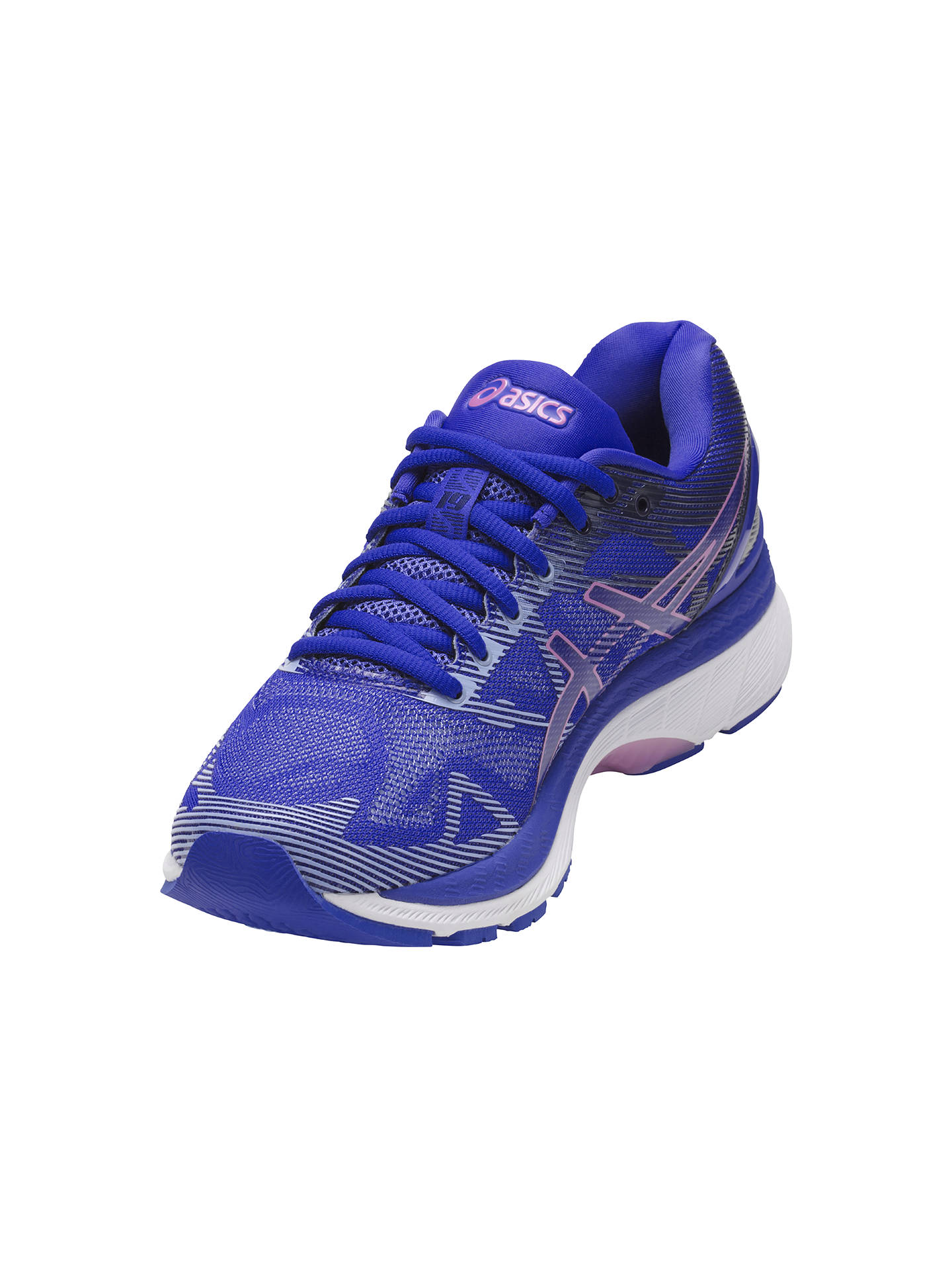 cozy fresh 76e0c ff380 Asics GEL-NIMBUS 19 Women's Running Shoes, Blue/Purple at ...