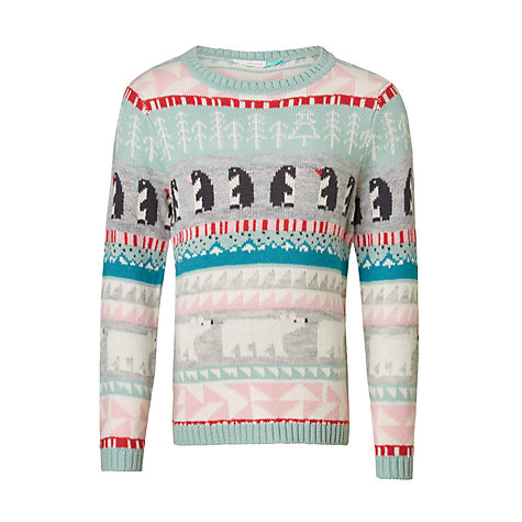 Buy John Lewis Girls' Fair Isle Jumper, Multi | John Lewis