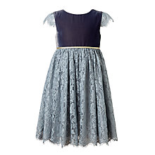 Buy John Lewis Girls' Lace Dress, Grey Online at johnlewis.com