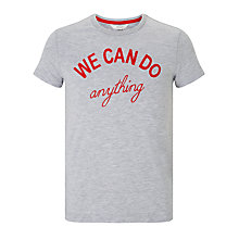 Buy John Lewis Children's We Can Do Anything T-Shirt, Grey Online at johnlewis.com