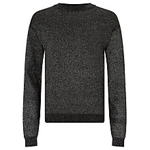 Buy John Lewis Girls' Sparkle Lurex Knitted Jumper, Black Online at johnlewis.com