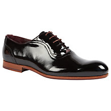 Buy Ted Baker Haigh Patent Leather Oxford Shoes, Dark Blue Online at johnlewis.com