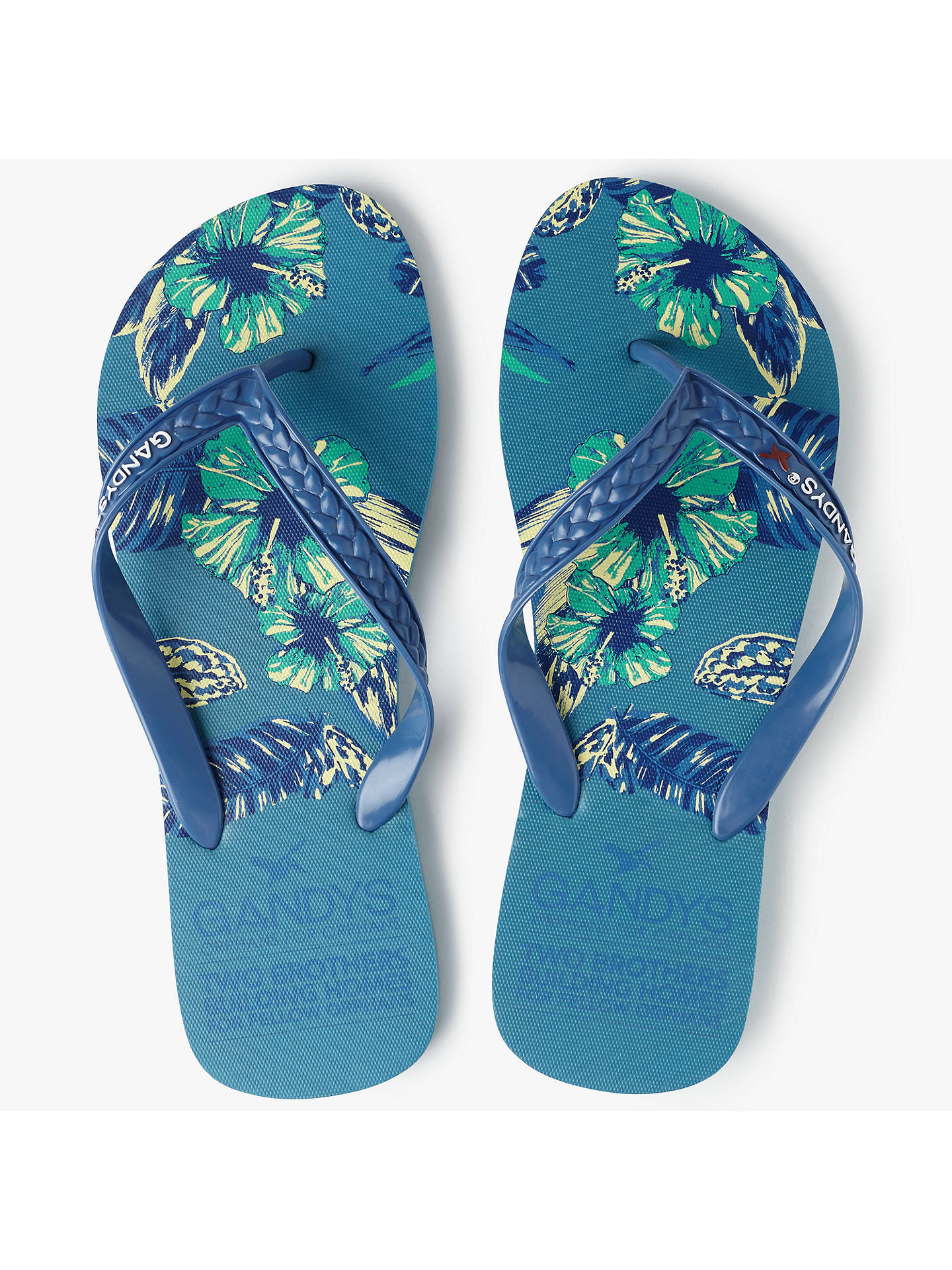 8d691bfce Buy Gandys for John Lewis Tropical Print Flip Flops