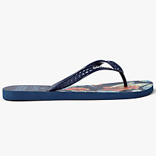 Buy Gandys for John Lewis Floral Print Flip Flops, Navy Online at johnlewis.com