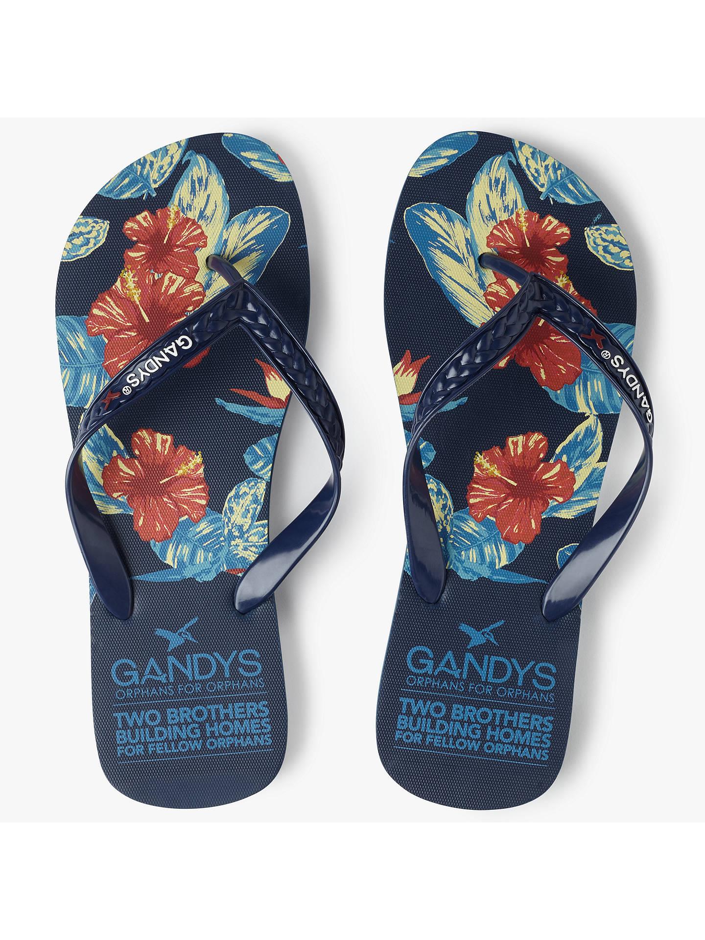 d2e901e939ddfe Buy Gandys for John Lewis Floral Print Flip Flops