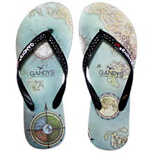 Buy Gandys for John Lewis Wayfarer Flip Flops, Blue Online at johnlewis.com