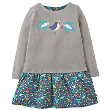 Buy Frugi Organic Girls' Aurora Swallow Dress, Grey/Multi Online at johnlewis.com