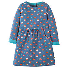 Buy Frugi Organic Girls' Lulu Jumper Fox Dress, Navy Online at johnlewis.com
