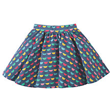 Buy Frugi Organic Girls' Sofia Skirt, Blue/Multi Online at johnlewis.com