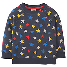 Buy Frugi Organic Baby Cosy Star Jumper, Navy/Multi Online at johnlewis.com