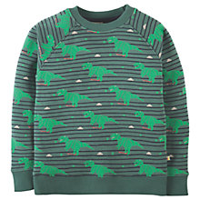 Buy Frugi Organic Children's Rex Dinosaur Jumper, Green Online at johnlewis.com