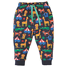 Buy Frugi Organic Baby Snuggle Circus Crawlers Trousers, Navy Online at johnlewis.com