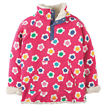 Buy Frugi Organic Girls' Snug Reversible Fleece, Pink/Multi Online at johnlewis.com