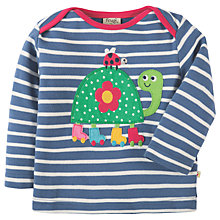 Buy Frugi Organic Baby Bobby Appliqué Top Tortoise, Navy/White Online at johnlewis.com