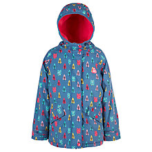 Buy Frugi Organic Children's Nellie Waterproof Jacket, Blue Online at johnlewis.com