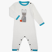Buy John Lewis Baby Intarsia Bunny All in One, Cream Online at johnlewis.com