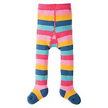 Buy Frugi Organic Baby Toasty Rainbow Tights, Pink/Multi Online at johnlewis.com