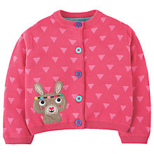 Buy Frugi Organic Baby Little Betsy Cardigan, Pink Online at johnlewis.com