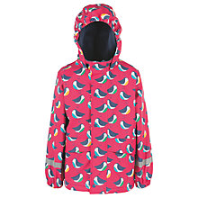 Buy Frugi Organic Children's Robin Waterproof Jacket, Pink Online at johnlewis.com
