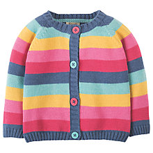 Buy Frugi Organic Baby Happy Day Cardigan, Blue/Pink Online at johnlewis.com