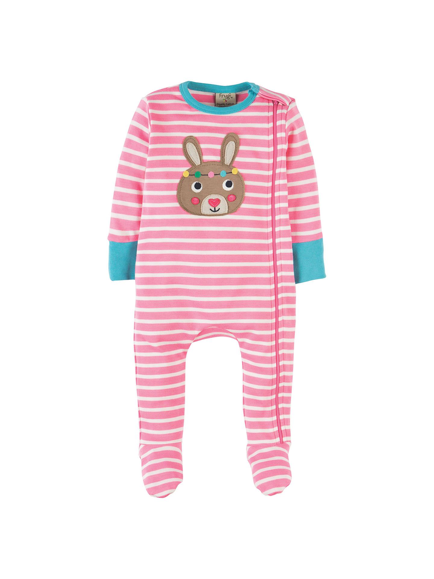 c6fd4db7f Frugi Organic Baby Bunny Zippy Babygrow Sleepsuit
