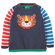 Buy Frugi Organic Baby Jack Knit Tiger Jumper, Navy Online at johnlewis.com