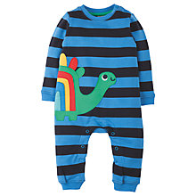 Buy Frugi Organic Baby Snug and Cosy Dino Footless Romper, Blue/Multi Online at johnlewis.com