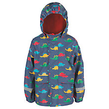 Buy Frugi Organic Children's Puddle Buster Dinosaur Coat, Blue/Multi Online at johnlewis.com