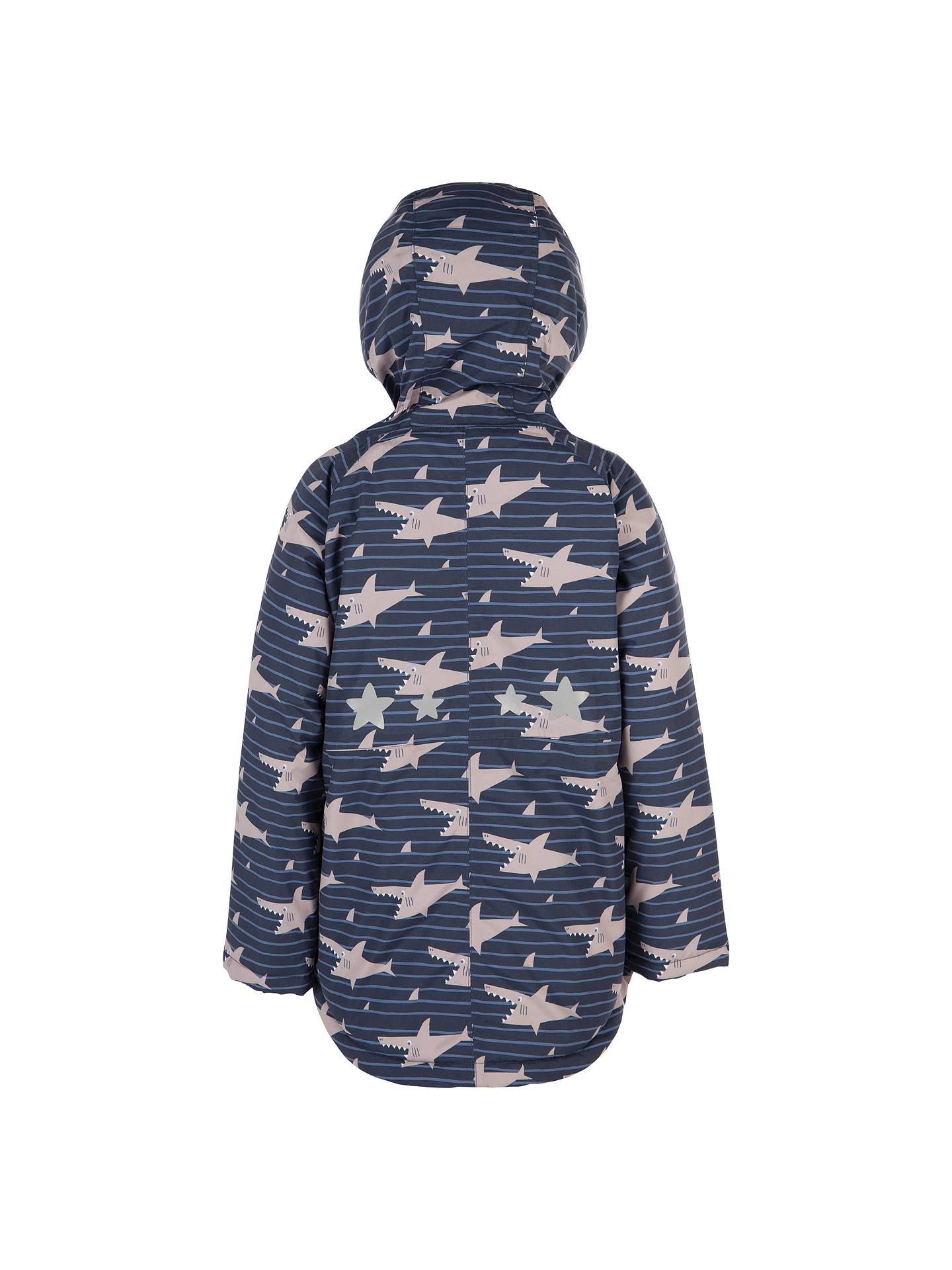732bd5cad ... Buy Frugi Organic Children's Waterproof Shark Jacket, Blue/Grey, 1-2  years ...