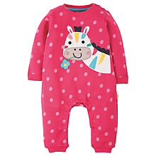 Buy Frugi Organic Baby Soft and Cosy Horse Romper, Pink Online at johnlewis.com
