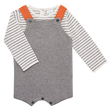 Buy John Lewis Baby Knit Romper with Top, Grey Online at johnlewis.com