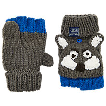 Buy Little Joule Children's Wolf Character Mittens, Grey Online at johnlewis.com