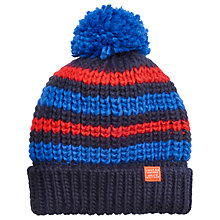 Buy Little Joule Boys' Bobbie Bobble Hat, Navy Online at johnlewis.com