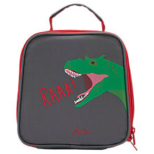 Buy Little Joule Children's Dinosuar Print Munch Lunch Box Bag, Grey/Red Online at johnlewis.com