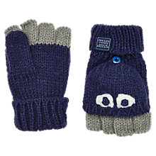 Buy Little Joule Children's Character Mittens, Blue/Grey Online at johnlewis.com
