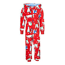 Buy John Lewis Children's All-Over Polar Bear Onesie, Multi Online at johnlewis.com