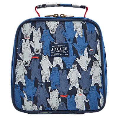 Little Joule Children's Bear Print Munch Lunch Bag, Blue