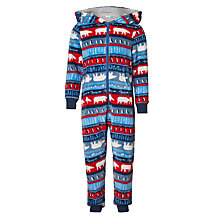 Buy John Lewis Children's Animal Fair Isle Onesie, Multi Online at johnlewis.com