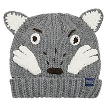 Buy Little Joule Children's Chummy Wolf Character Beanie Hat, Multi Online at johnlewis.com