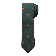 Buy John Lewis Heirloom Collection Boys' Herringbone Fox Tie, Green Online at johnlewis.com