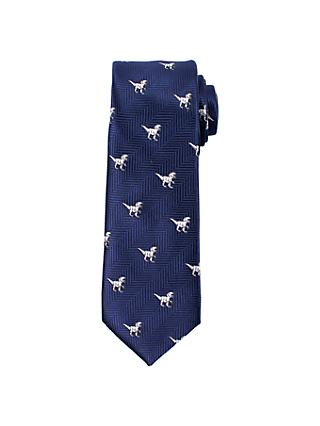 John Lewis & Partners Heirloom Collection Boys' T-Rex Tie, Navy