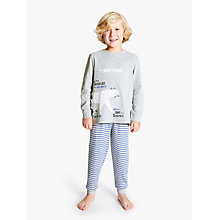 Buy John Lewis Children's Santa Jaws Pyjamas, Pack of 2, Blue/Multi Online at johnlewis.com