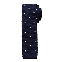 Buy John Lewis Children's Knitted Spot Tie, Blue Online at johnlewis.com