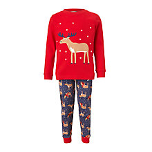 Buy John Lewis Children's Christmas Reindeer Pyjamas, Multi Online at johnlewis.com