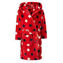 Buy John Lewis Children's Multi Star Robe, Red Online at johnlewis.com